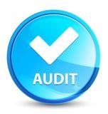 Botón redondo azul natural del chapoteo de la auditoría (valide el icono) ilustración del vector