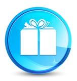 Botón redondo azul natural del chapoteo del icono de la caja de regalo libre illustration