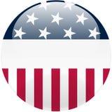 Botón redondo de Estados Unidos Fotografía de archivo