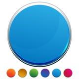 Botón redondo del Web Fotografía de archivo
