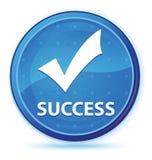 Botón redondo primero azul de medianoche del éxito (valide el icono) libre illustration