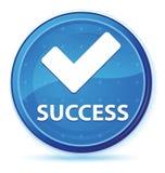 Botón redondo primero azul de medianoche del éxito (valide el icono) stock de ilustración