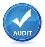 Botón redondo primero azul de medianoche de la auditoría (valide el icono) stock de ilustración