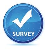 Botón redondo primero azul de medianoche de la encuesta (valide el icono) libre illustration
