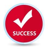 Botón redondo rojo primero plano del éxito (valide el icono) stock de ilustración
