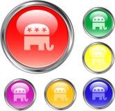 Botón republicano Fotos de archivo libres de regalías