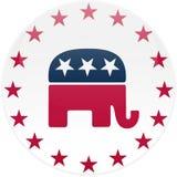 Botón republicano blanco libre illustration