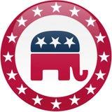 Botón republicano - blanco y rojo