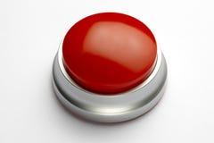 Botón rojo Fotografía de archivo