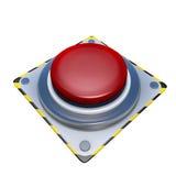 Botón rojo Foto de archivo