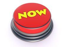Botón rojo ahora Foto de archivo libre de regalías