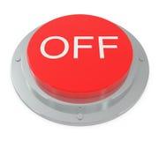 Botón rojo aislado en blanco Imágenes de archivo libres de regalías