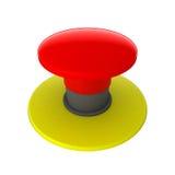 Botón rojo aislado en blanco Fotografía de archivo
