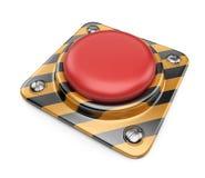Botón rojo alerta vacío. icono 3D   Imagen de archivo