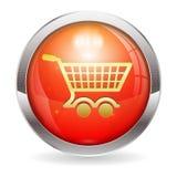Botón del carro de la compra Fotos de archivo