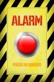 Botón rojo de la ALARMA Imágenes de archivo libres de regalías