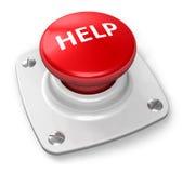 Botón rojo de la ayuda Imágenes de archivo libres de regalías
