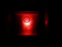 Botón rojo de la potencia Imagen de archivo libre de regalías