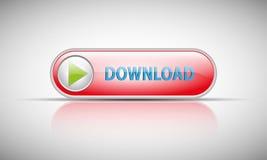 Botón rojo de la transferencia directa Imágenes de archivo libres de regalías