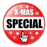 Botón rojo de Navidad Fotografía de archivo libre de regalías