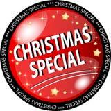 Botón rojo del special de la Navidad ilustración del vector