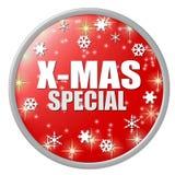 Botón rojo del special de Navidad stock de ilustración