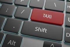 botón rojo del taxi del ejemplo 3d en el teclado Fotos de archivo