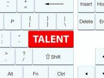Botón rojo del teclado del talento Fotos de archivo