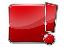 Botón rojo en blanco ilustración del vector