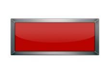 Botón rojo en blanco Imagenes de archivo