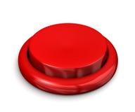Botón rojo grande Fotografía de archivo libre de regalías