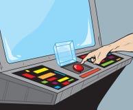 Botón rojo grande libre illustration