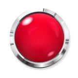 Botón rojo grande stock de ilustración