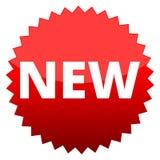 Botón rojo nuevo Imagen de archivo libre de regalías