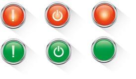 Botón rojo y verde Imágenes de archivo libres de regalías