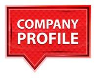 Botón rosado color de rosa brumoso de la bandera del perfil de compañía stock de ilustración