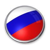 Botón Rusia de la bandera Imágenes de archivo libres de regalías