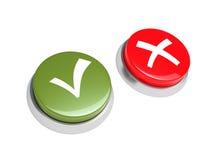 Botón sí y No. Imágenes de archivo libres de regalías