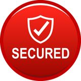 botón seguro del web 100 libre illustration