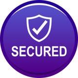 botón seguro del web 100 stock de ilustración