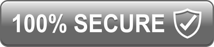 botón seguro del web 100 ilustración del vector