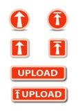 Acción del botón de la tela de la carga por teletratamiento Imagen de archivo libre de regalías