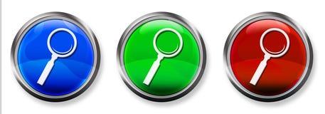 Botón tridimensional del RGB de la búsqueda Fotografía de archivo libre de regalías