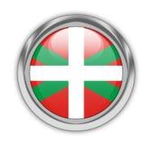 Botón vasco de la bandera Foto de archivo
