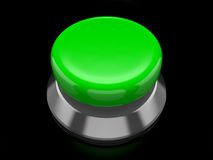 Botón verde stock de ilustración