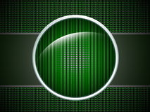 Botón verde Fotos de archivo
