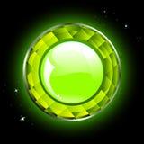 Botón verde brillante Foto de archivo