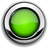 Botón verde brillante. stock de ilustración