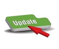 Botón verde de la actualización ilustración del vector
