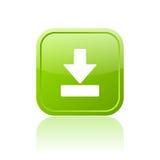 Botón verde de la transferencia directa ilustración del vector
